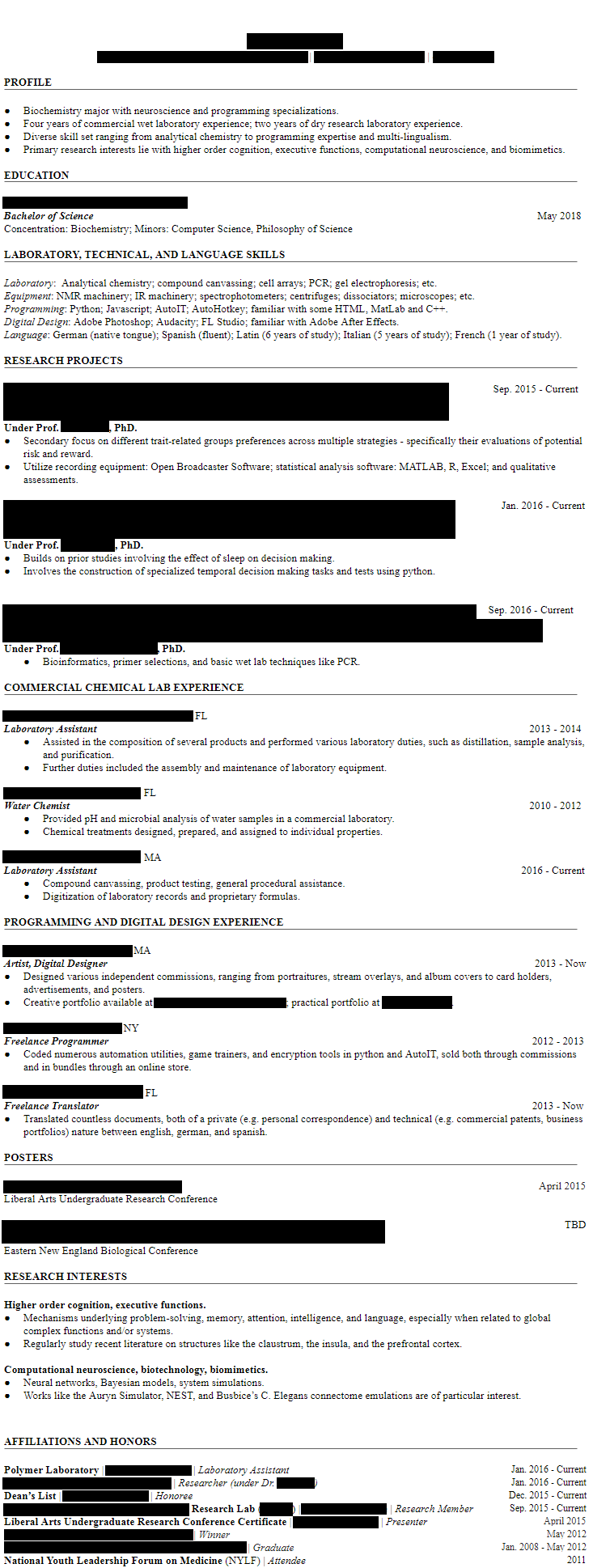 CV censored